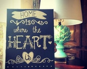 Handpainted Home Is Where the Heart Is Painting