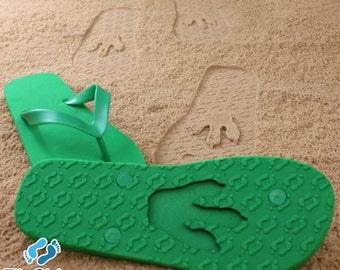 Animal Track Flip Flops Custom Sand Imprint*Check size chart before ordering*