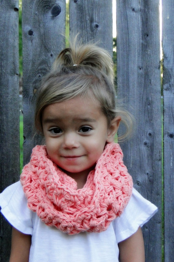 Kids Scarf Girls crochet cowl kids infinity by JuneBugBeanies