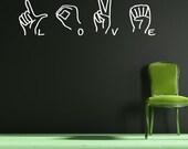 Sign Language decal-  LOVE