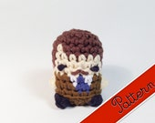 "PDF Pattern for Crocheted Parks and Rec's Ron Swanson Kawaii Keychain Miniature Doll ""Pod People"""