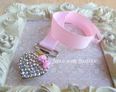 Bling Rhinestone Universal Pacifier Clip Avent MAM NUK Fancy Bling Pacifier Clip
