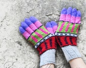 Multcolor Knit Gloves, Women's Winter Cozy Gloves, Gloves Teens, Arm Warmer, Knitted Accessories, Fashion Accessories, Wrist Warmer, For Her