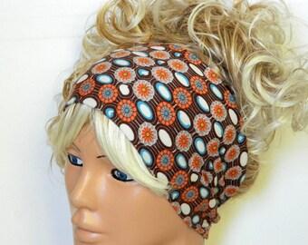 stretchy headband in brown, white color, yoga headband ear warmer women's headband birthday gifts girly accessories women's fashion