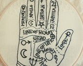 Made to Order Palmistry Hand Embroidery Hoop Art