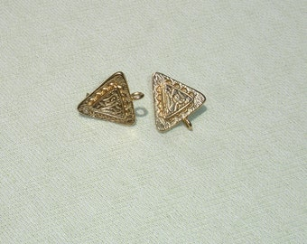 Triangle Post Earring Wires - Jewelry Making Supply