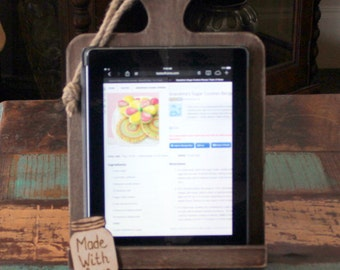 READY TO SHIP Kitchen iPad Holder Stand Cookbook Stand Recipe Holder Personalized