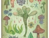 Botany (Silent Observers) - A4 art print