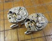 LeCoultre 490/BW Watch Movement Cufflinks. Great for Fathers Day, Anniversary, Groomsmen or Just Because.  #650