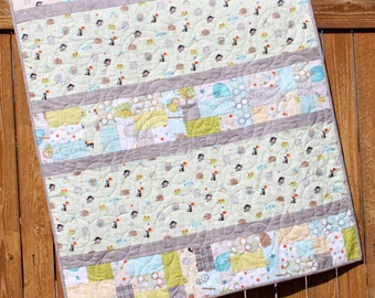 Blue Amp Yellow Baby Boy Quilt Snips And Snails By Jennymsquilts