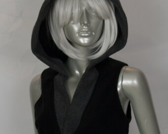 Black Cat Cropped Hood