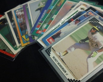 Vintage Trading Cards - 13 different Rickey Henderson Baseball Cards (1988-93)