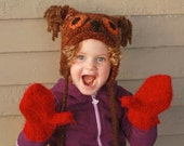 Childrens mittens girls mittens kids mittens made in Michigan for boy or girl custom made to order