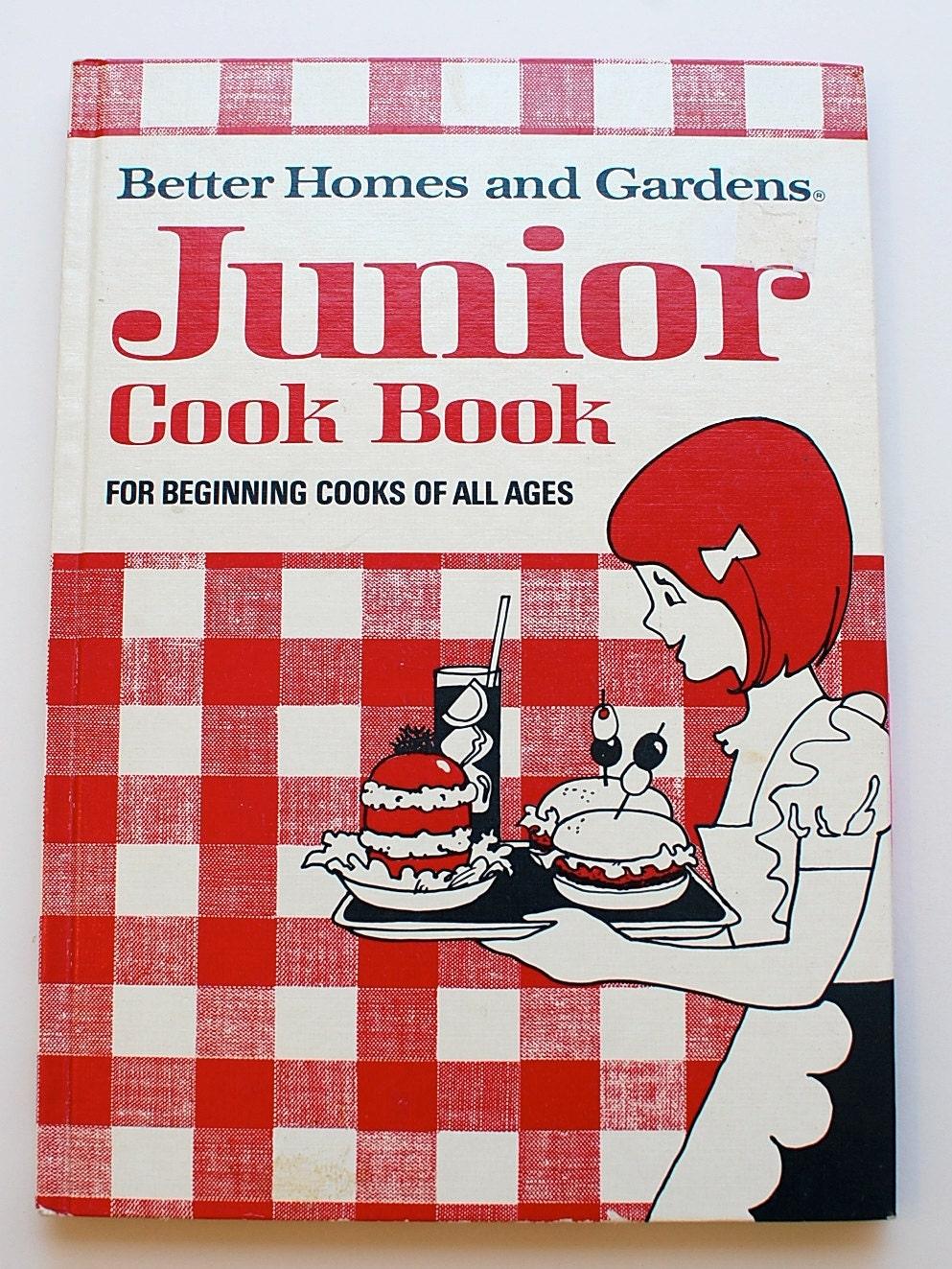 Better Homes And Gardens Junior Cookbook 1972 Vintage Children