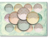 Damask Lace 2.5 inch Circles  for Jewelry Pendants - Digital Collage Sheet Download -866- Instant Download Printables