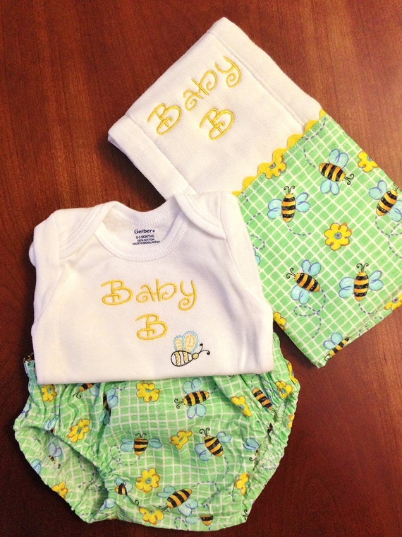 gender neutral baby shower gift set includes embroidered onesie