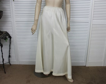 Vintage 1940s, 50s Wedding Dress Underskirt Ivory