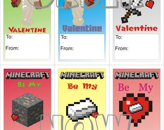 Minecraft Iron Valentines DIY print able pdf ...