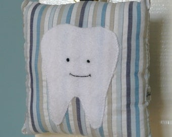 Handmade Hanging Tooth Fairy Pillow with Felt Tooth Pocket
