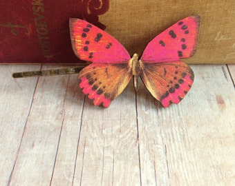 Red Butterfly Hair Accessory