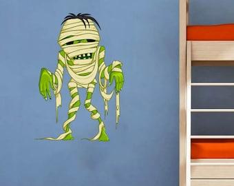 Cartoon Mummy Kids Children Nursery - Full Color Wall Decal Vinyl Decor Art Sticker Removable Mural Modern B211