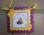 Tangled Party  - Door Sign - Welcome Sign - Birthday Party - Rapunzel Welcome Sign