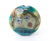 Large Abstract Lampwork Glass Bead (29068)