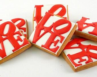 Decorated Cookies - Philadelphia - Love - LovePark - 1 dozen