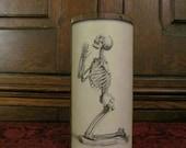 Beggin' Bones: Parchment Collection Candleholder