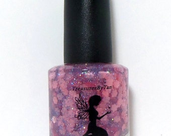 Mommy's Love Unconditionally: Custom Blended Nail Polish, Mother, Lacquer, Nail Polish, Glitter, Flower, Gift, Love, Nails, Glitter Polish