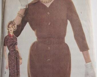 Vintage 1960's Dress Sewing Pattern  Advance 3044 size 18 Bust 38