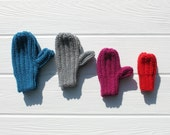 Children's Mittens, Toddler Mittens, You pick color, Made to Order