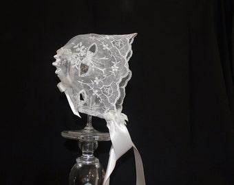 The Anna Christening Baby Bonnet