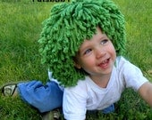 Halloween Costume for Boys Green Wig Oompa Loompa