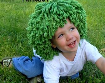 Halloween Costume for Boys Green Wig Oompa Loompa