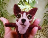 Boston Terrier, Handmade Needle Felted Brindle Boston Terrier Plushy, Pet Lovers Gift, Doll Miniature