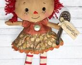 Sweetest Day Orchard Annie - Primitive Raggedy Ann Doll (HAFAIR)