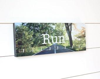Run Medal Holder - Full Color Photo Road Sun Shining Medium