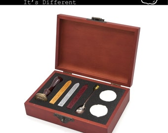 Wax Seal Set Red Wood Gift Box, holiday special giftset
