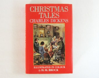 Christmas Tales - Charles Dickens - Vintage Hardcover Book - Victorian Christmas Stories - Illustrated Book - Holiday Ghost Stories