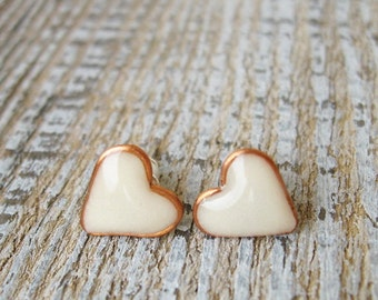 Tiny-Tiny Glow Earrings Stud Heart earrings Luminescent studs