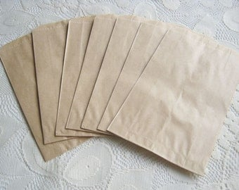 Mini Paper Bags Brown Kraft Gift Bag 50pcs Craft bag Brown paper bag - 3 3/4  x  6 party favors, trick or treat, Candy Bag, wedding bag