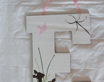 Custom Hand Painted Girls Willow deer letter