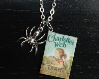 Charlotte's Web Mini Book Necklace