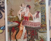 Gorgeous Victorian Soothing Syrup Medical Advertisement Card