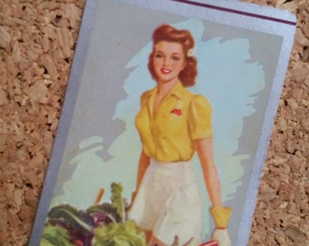 Vintage Sweetheart Pin Up Playing Cards Gardening