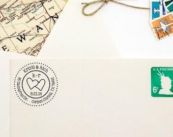 Wedding Address Stamp for Save the Dates - Custom Return Address Self Inking Stamp