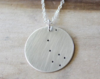 Constellation Necklace, North Star Necklace, Polaris, Sterling Silver