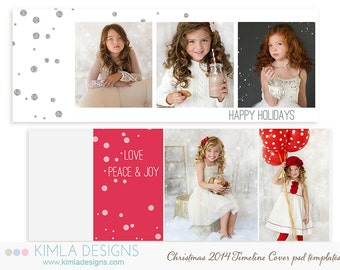 Christmas Timeline Cover Templates