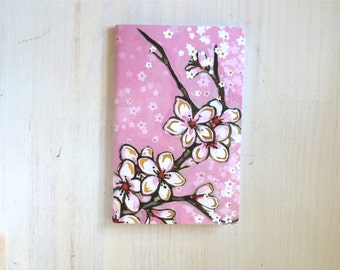 Large Notebook: Floral, Pink, Wedding, Favor, Notebook, Unlined, Journal, For Her, For Him, Gift, Unique, Blank Journal, Cherry, L8-020